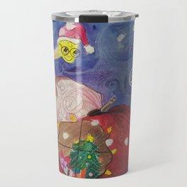 Apple Home, Christmas card. Travel Mug
