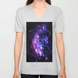 galaxy sacred geometry Unisex V-Neck