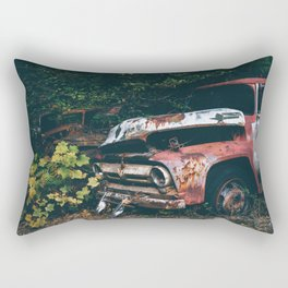 Vintage Trucks in the Woods Rectangular Pillow