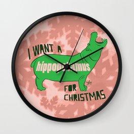 Christmapotamus Wall Clock