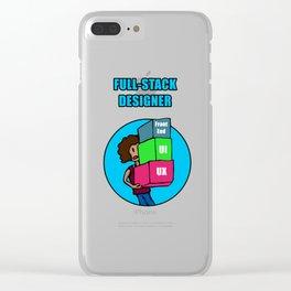Full-Stack Designer Clear iPhone Case