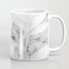 Soft white tree leaves pattern Coffee Mug