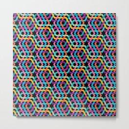 Arabic multicolor pattern Metal Print