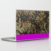 david fleck Laptop & iPad Skins featuring Magenta Fleck Tarn Camo by Derek Boman