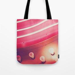 Pink Neon Glow Tote Bag