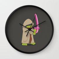 jedi Wall Clocks featuring Master Jedi by Matisse Lin