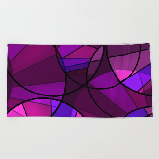 Colorful purple and blue pattern . Beach Towel