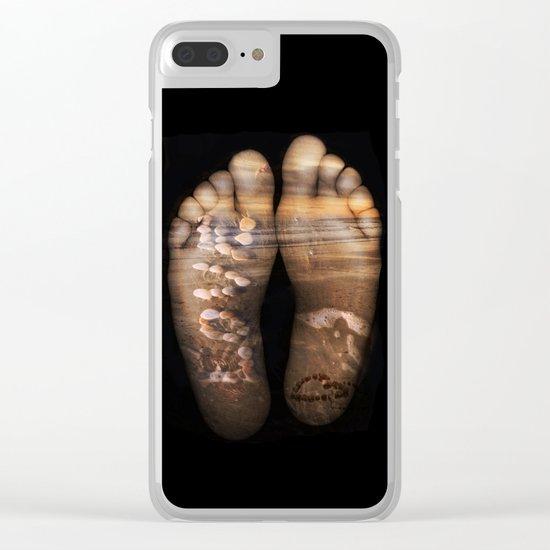 Beach Feet Clear iPhone Case
