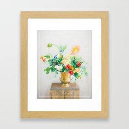 Light flowers Framed Art Print