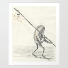 the light, old boy, the light Art Print