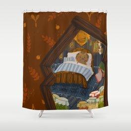 Hedgehog Wintersleep Shower Curtain