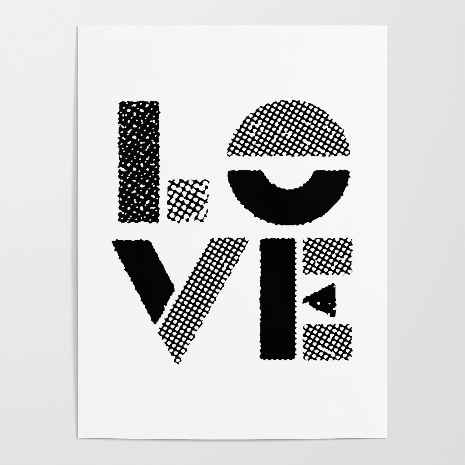 Love black white contemporary minimalist vintage typography poster design home wall decor bedroom poster