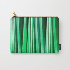 Aquamarine Ocean Stripy Pattern Carry-All Pouch