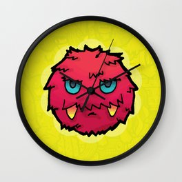 Doodle Red Ball Wall Clock