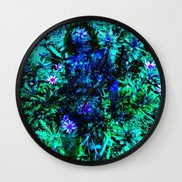 Layered Reality blue woman Wall Clock