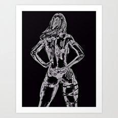Toxic Lady Art Print