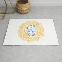 Namaste   Wisdom Flower Mandala Rug