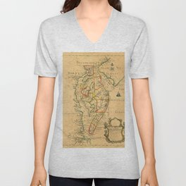 Chesapeake Bay 1786 Unisex V-Neck