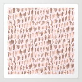 Blush Pink Rose Gold Abstract Art Print