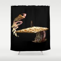 mushroom Shower Curtains featuring Mushroom by lightningMade