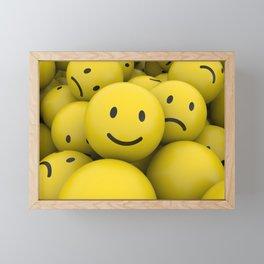 smile among sad balls Framed Mini Art Print