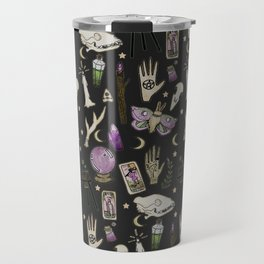 WITCH pattern • in black salt Travel Mug