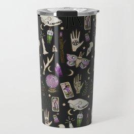 WITCH pattern • in black salt Travel Mug