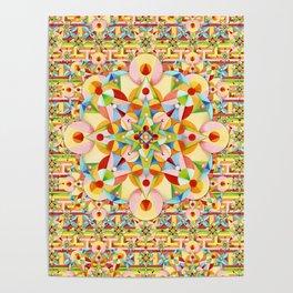 Rainbow Carousel Starburst Poster