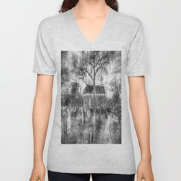 Old Dutch Church Of Sleepy Hollow Vintage Unisex V-Neck