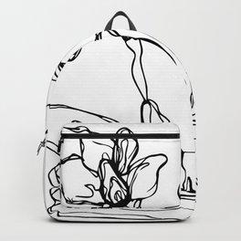 Mason Jar Flowers Backpack