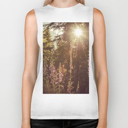 A New Day Wildflowers at Dawn - Nature Photography Biker Tank