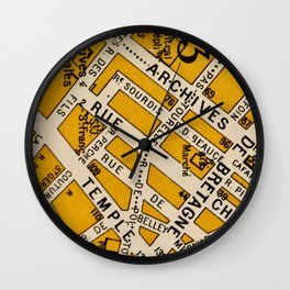 All About Paris II Wall Clock