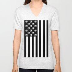 US MiniFigure Flag - Vertical Unisex V-Neck