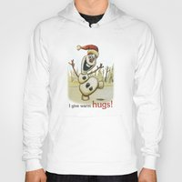 olaf Hoodies featuring Olaf Christmas Frozen by WimpyGeek Art