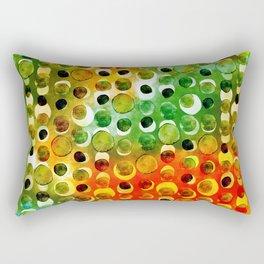 Green and Orange Dots Rectangular Pillow