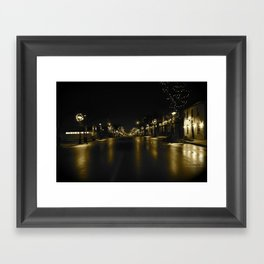 Waterloo @ Night Framed Art Print