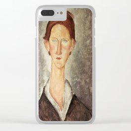 Amedeo Modigliani - Portrait Of A Student Clear iPhone Case