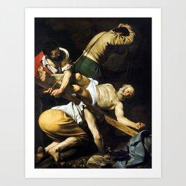 Caravaggio Crucifixion of Saint Peter Art Print