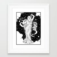 ghost Framed Art Prints featuring Ghost by Corinne Elyse