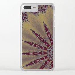 Fractal Scorpion Flower Mandala 1 Clear iPhone Case