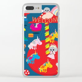 Welcome to Wonderland Clear iPhone Case