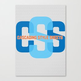 Webdesign CSS Canvas Print