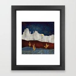 Moonlit Desert Framed Art Print