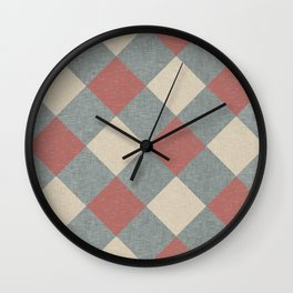 Linen Diamonds Wall Clock