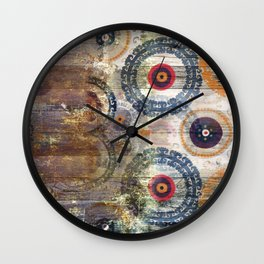 AMASONDO PATCHWORK PATTERN ART Wall Clock
