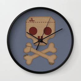 Paper Pirate Wall Clock