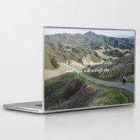 miles davis Laptop & iPad Skins featuring Thousand Miles by Natalie Guardado
