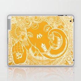 Ganesha Lineart Yellow White Laptop & iPad Skin