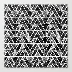 Marble triangles Canvas Print