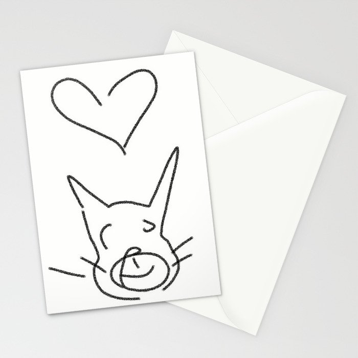 cat luv Stationery Cards